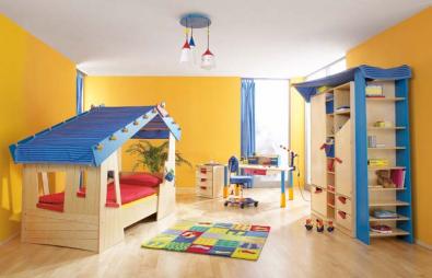 Combinaci n de colores en habitaciones infantiles - Cuarto infantil nino ...