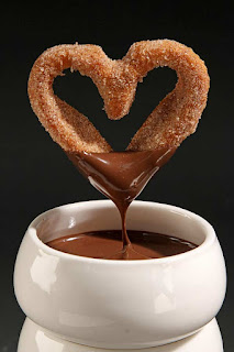 Corazones de Chocolate (Buñuelos)