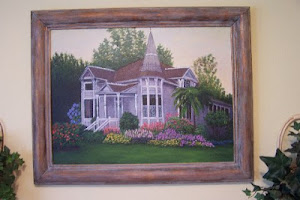 Queen Annie house oil painting