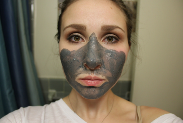 GlamGlow Supermud Clearing Treatment Youthmud Tinglexfoliate Treatment Before During Review