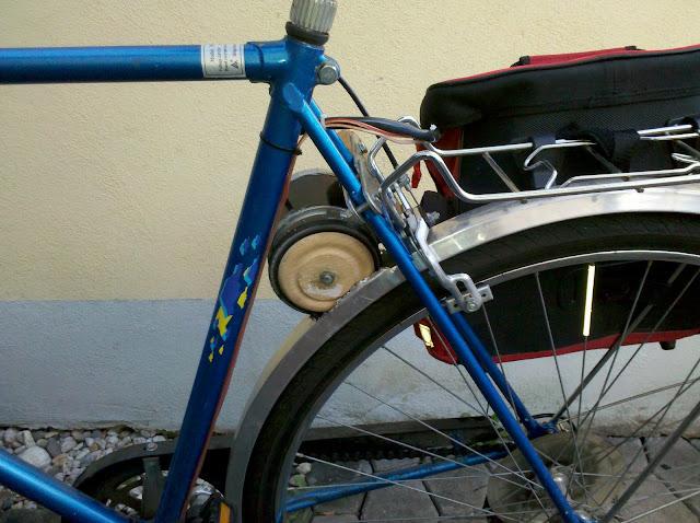 Bicicletta Elettrica Con Il Motore Di Una Lavatrice