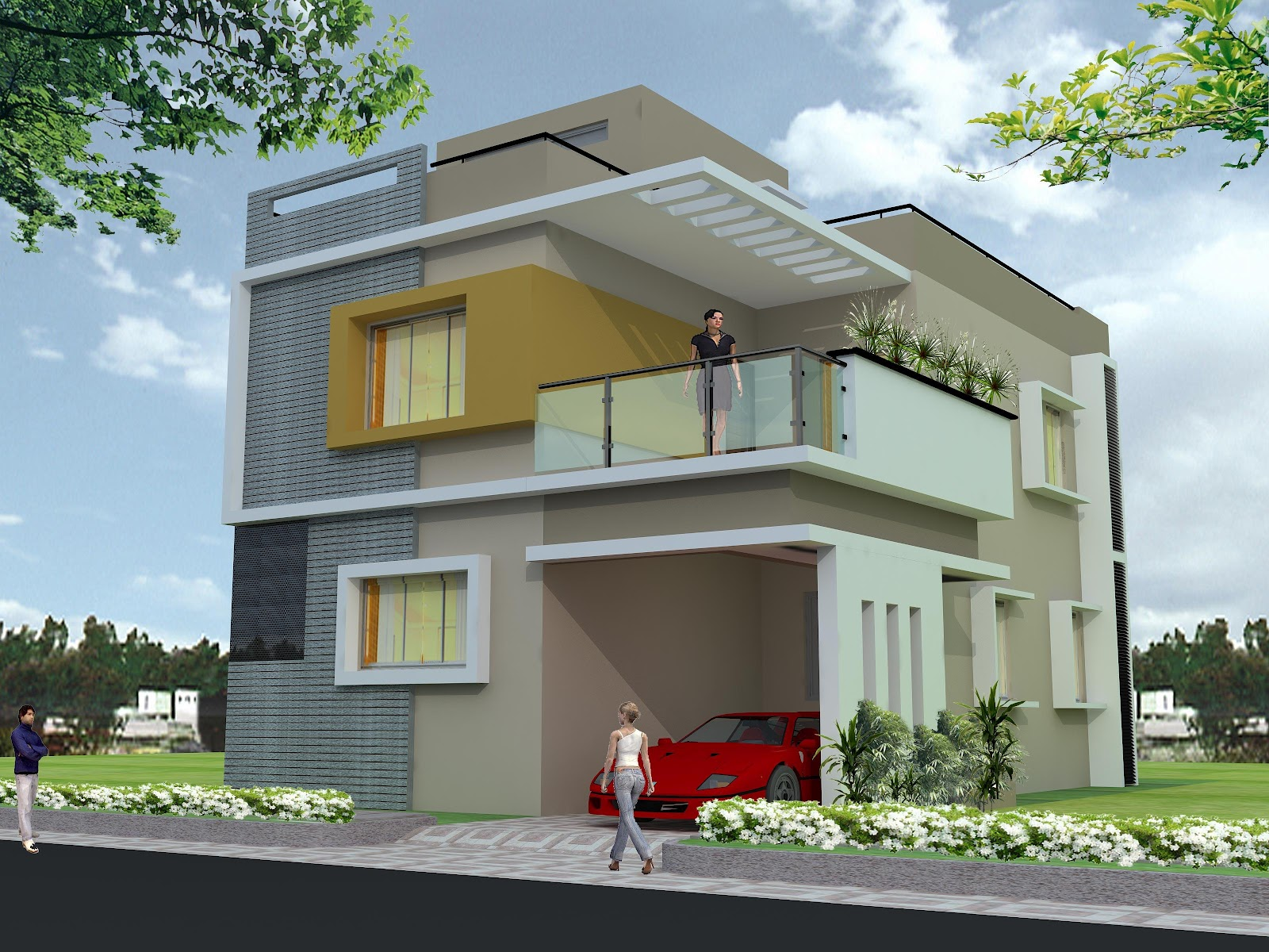 Lake shore villas designer duplex villas for sale in for 30x50 duplex house plans