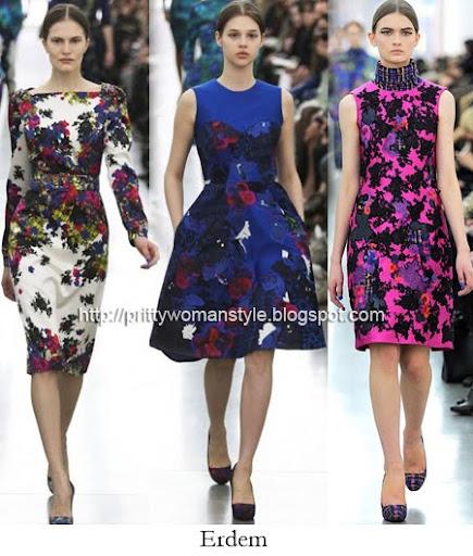 Erdem рокли на цветя