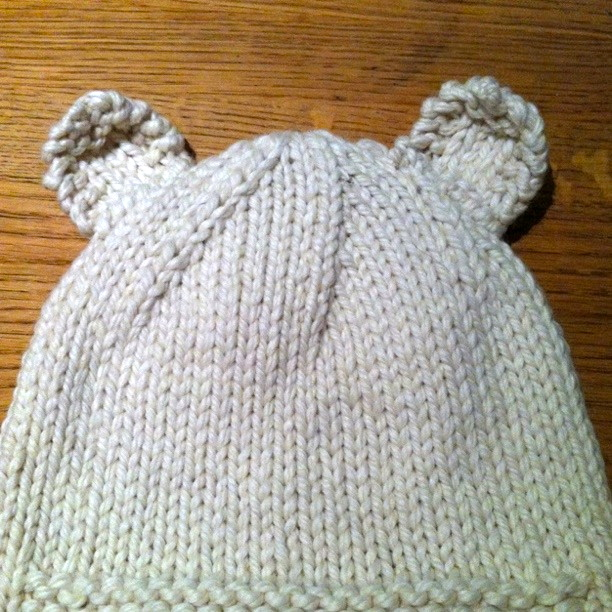 Stitch Me Softly Sleepy Polar Bear Hat Knitting Pattern