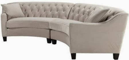 Small sectional sofas reviews small curved sectional sofa for Small tufted sofa