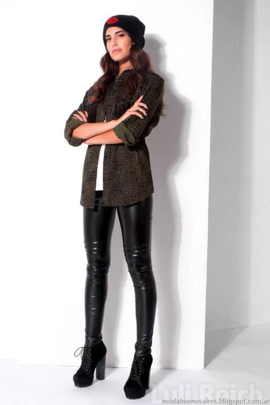 Camisas de moda de invierno- Moda 2014 Luli Reich.