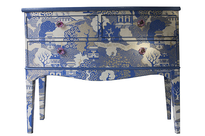 Decoupage Dresser Ideas Blue 700 x 465