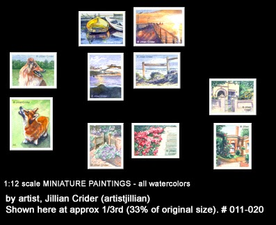 Jillians original dollhouse miniature paintings