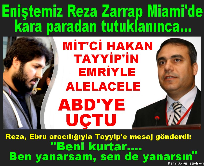 ENİŞTE REZA'DAN PRESİDENT TAYYİP'E BÜYÜK EMİR