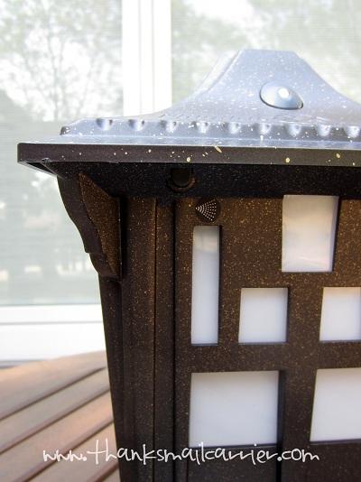 Terminix Mostquito Lantern mist button