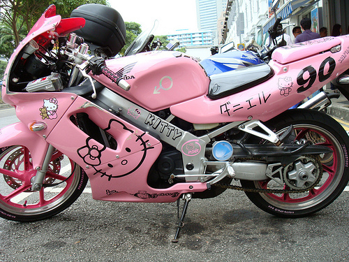 Hello Kitty Hello Canım Ne Güzel Motor Bu Böyle Dubnobasswithmyheadman