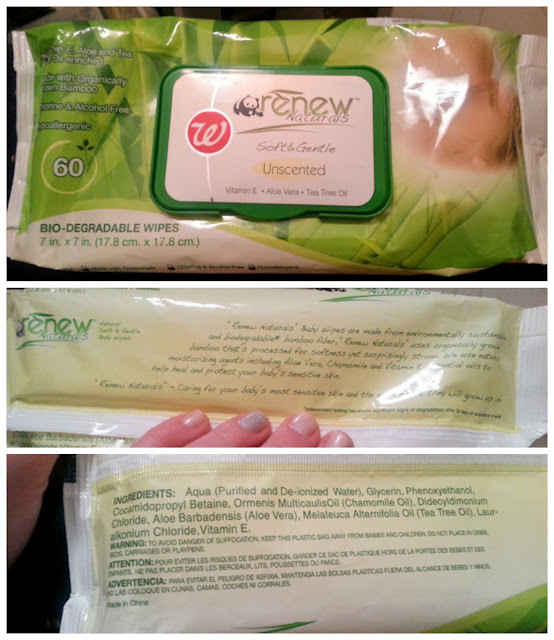 Walgreens Renew Naturals Soft & Gentle Bio-degradable Wipes (unscented)