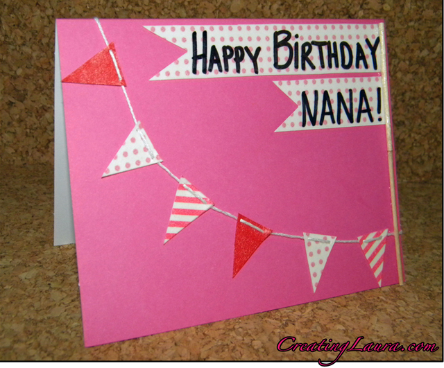 creating laura a washi tape birthday card, Birthday card