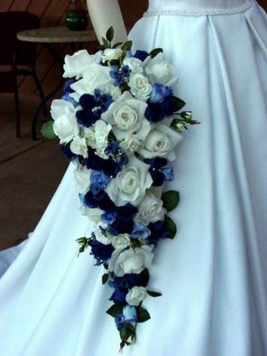 Navy Blue And White Wedding Bouquets : De beautiful wedding bouquet blue dress collection