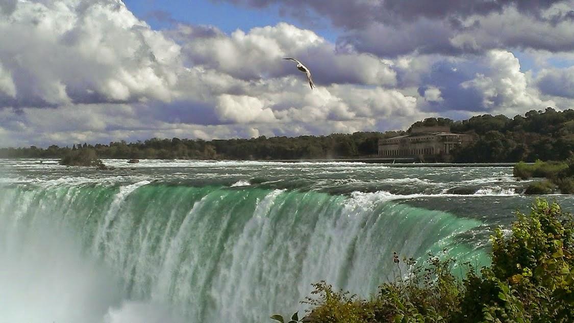 The falls at Niagara Falls, Canada