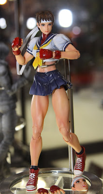 Square Enix Play Arts 2013 Toy Fair Display - Street Fighter Sakura figure