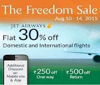 Ixigo : Jet airways Sale get Rs.1000 off Rs.500 on Others On Flights :buytoearn