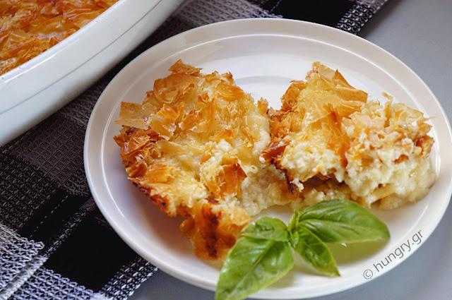 Easy Savory Cheese Pie-Patsavouropita