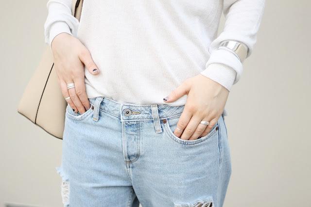 ripped denim boyfriend jeans