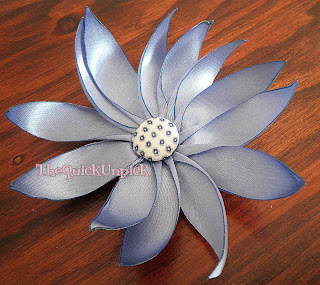 Handmade Ribbon Flower Tutorial :: The Quick Unpick