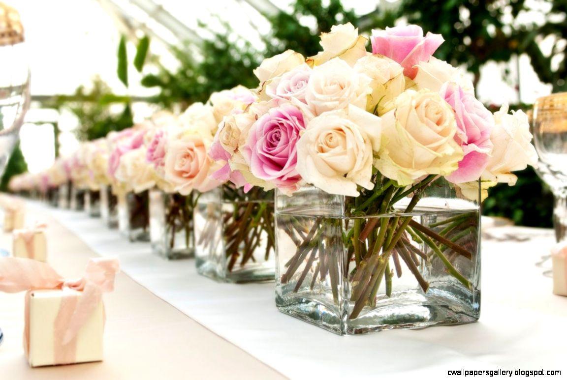 Beautiful White Pink Summer Wedding Centerpiece Flowers  Flower