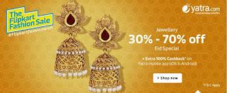 Flipkart Eid special:  Buy jewellery flat 30% to 70% off :buytoearn