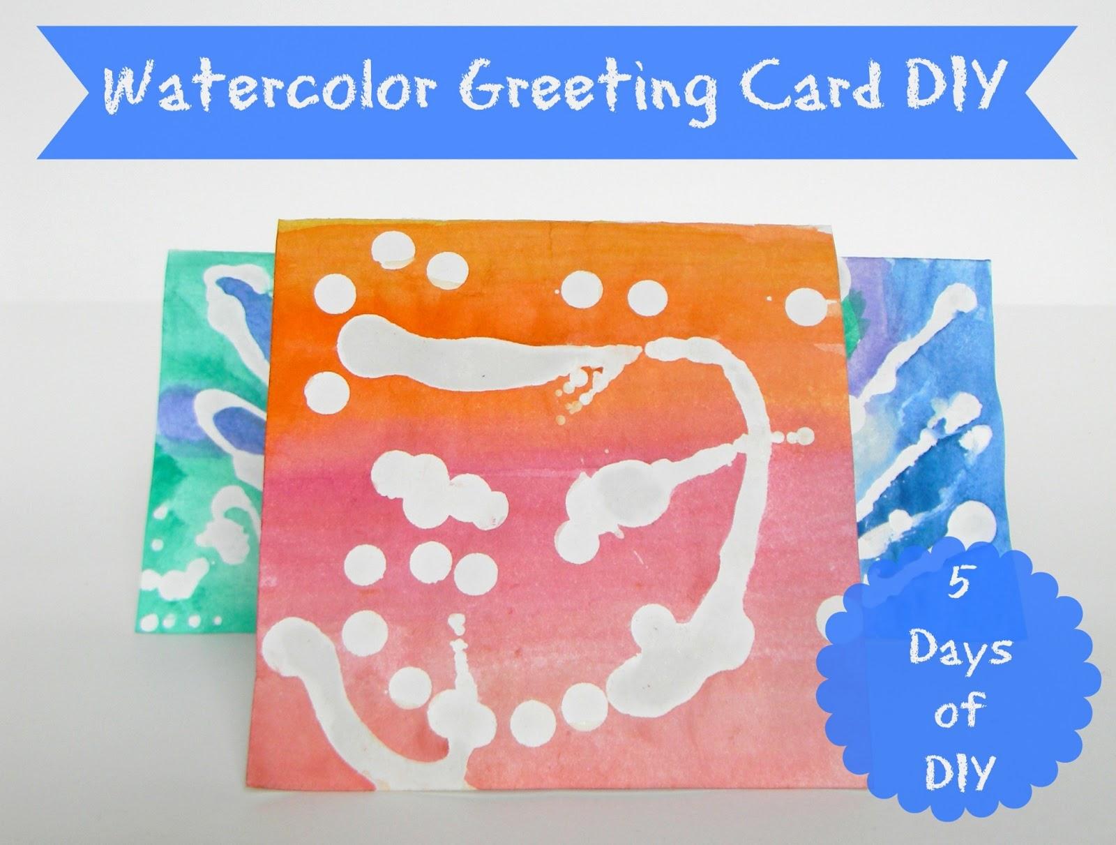 The brashear kids watercolor greeting card diy watercolor greeting card diy m4hsunfo