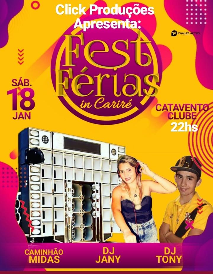 FEST FÉRIAS EM CARIRÉ