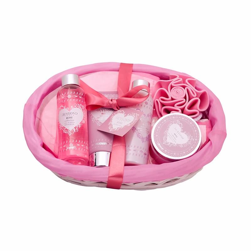 Set De Baño Relajante:Bandeja de miniaturas para el baño : kit con gel de baño, crema de