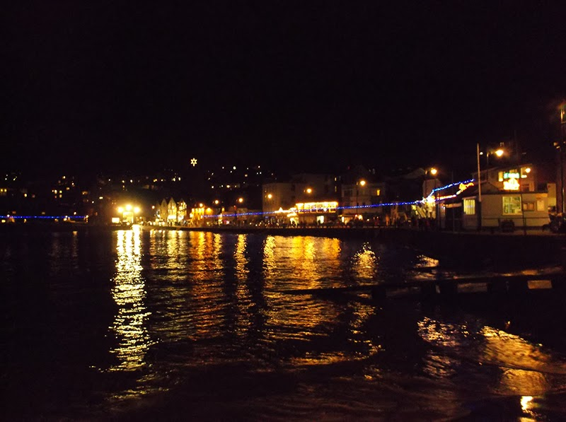 St Ives Cornwall Harbour - Christmas Lights 2013