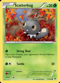 Scatterbug BREAKthrough Pokemon Card