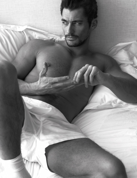 David Gandy naked in bed by Mert & Marcus