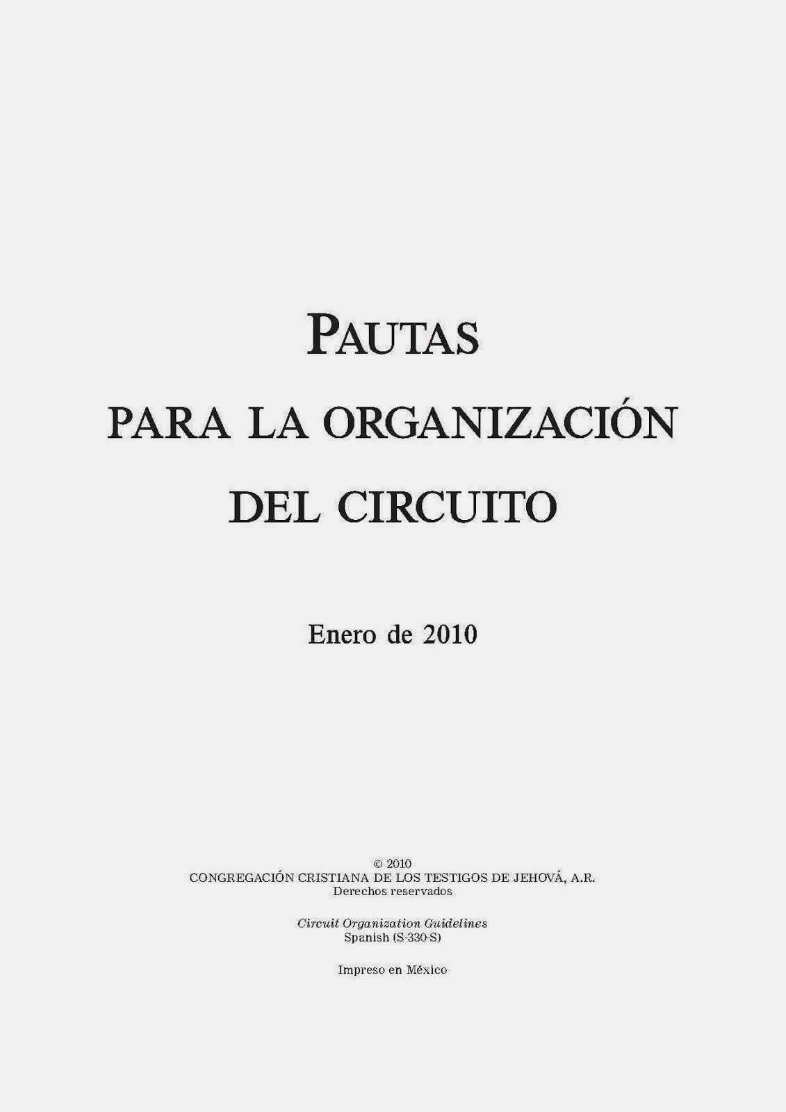 Pautas para la organización del circuito
