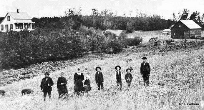 Diedrich Brunken Family and Homestead - Circa 1895