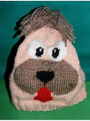 fes handmade tricotat manual adulti cadou model catel iarna