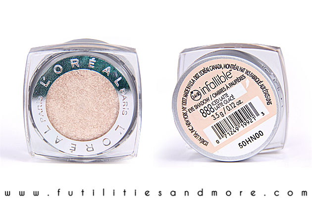 L'Oreal Infallible Eyeshadow Iced Latte – Review and Swatch