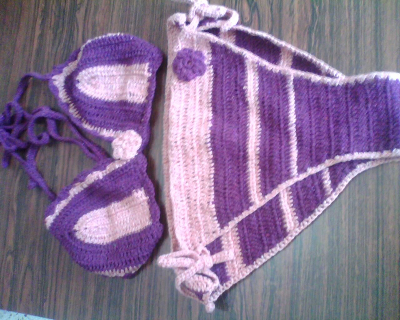 Set De Baño A Crochet Paso A Paso:Esta hecho en pabilo Vino tinto con Rosado viejo o Palo