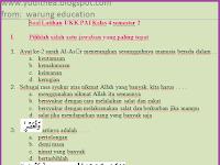 Soal Kelas 4 UKK Agama Islam - PAI / UAS Genap