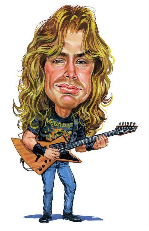 Dave Mustaine tocando Guitarra