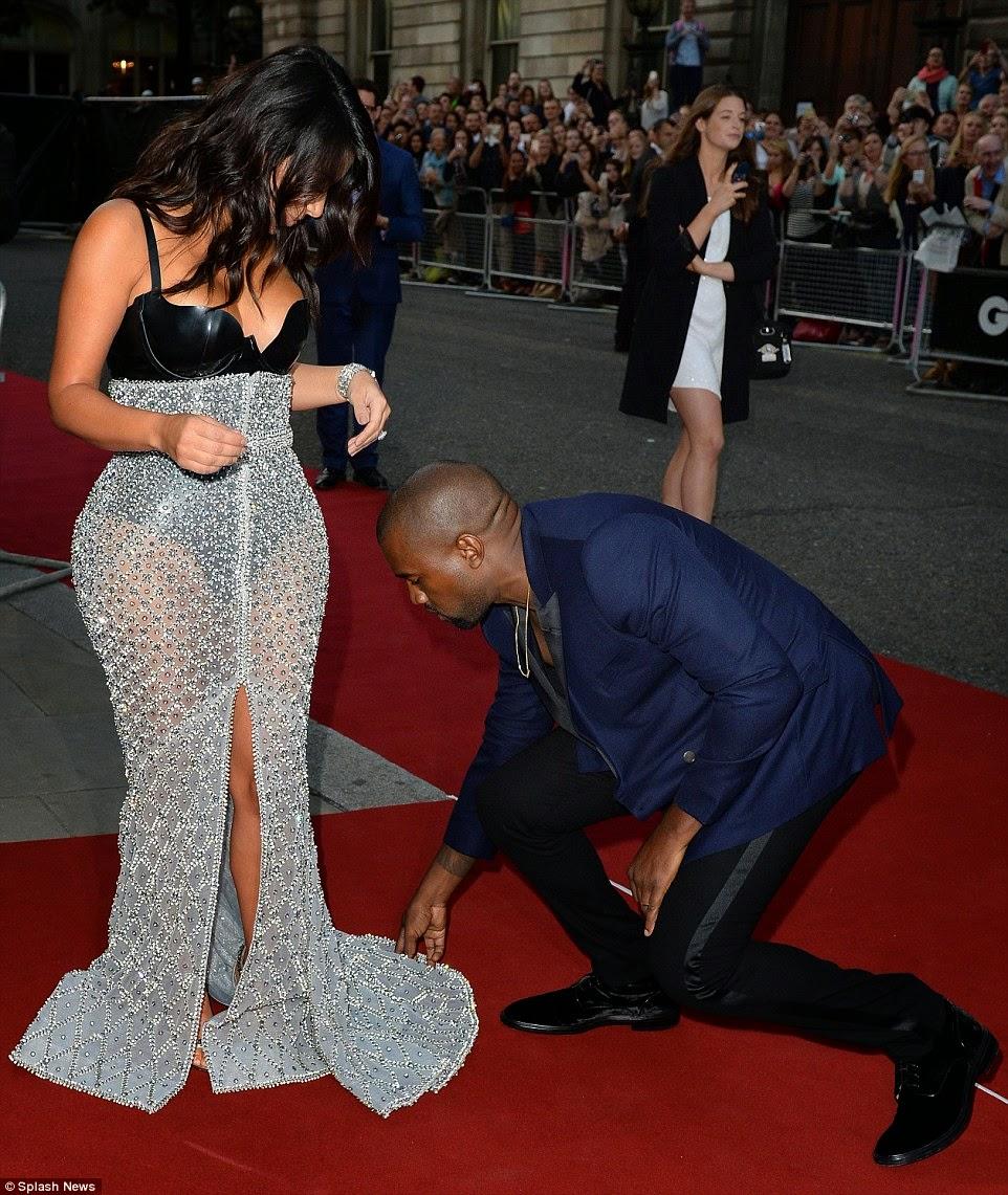 Kim K and Kanye West