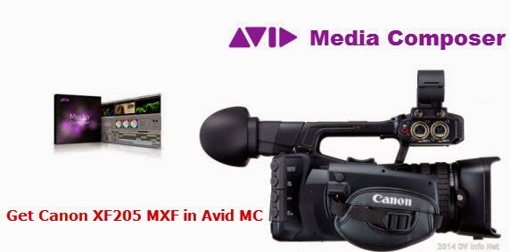 get canon xf205 mxf in avid mc