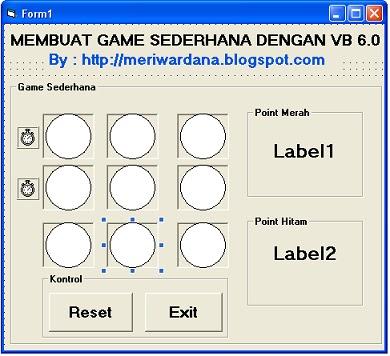 Gambar Pengaturan kontrol dalam Membuat Game VB