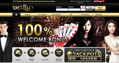 Freebet Terbaru - 1BET2u - Bonus Deposit 100%