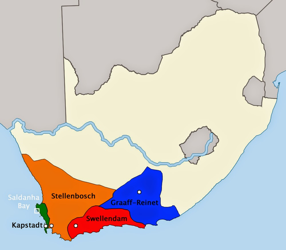 I Luv SA Map of the First Boer Republics of the Cape Frontier