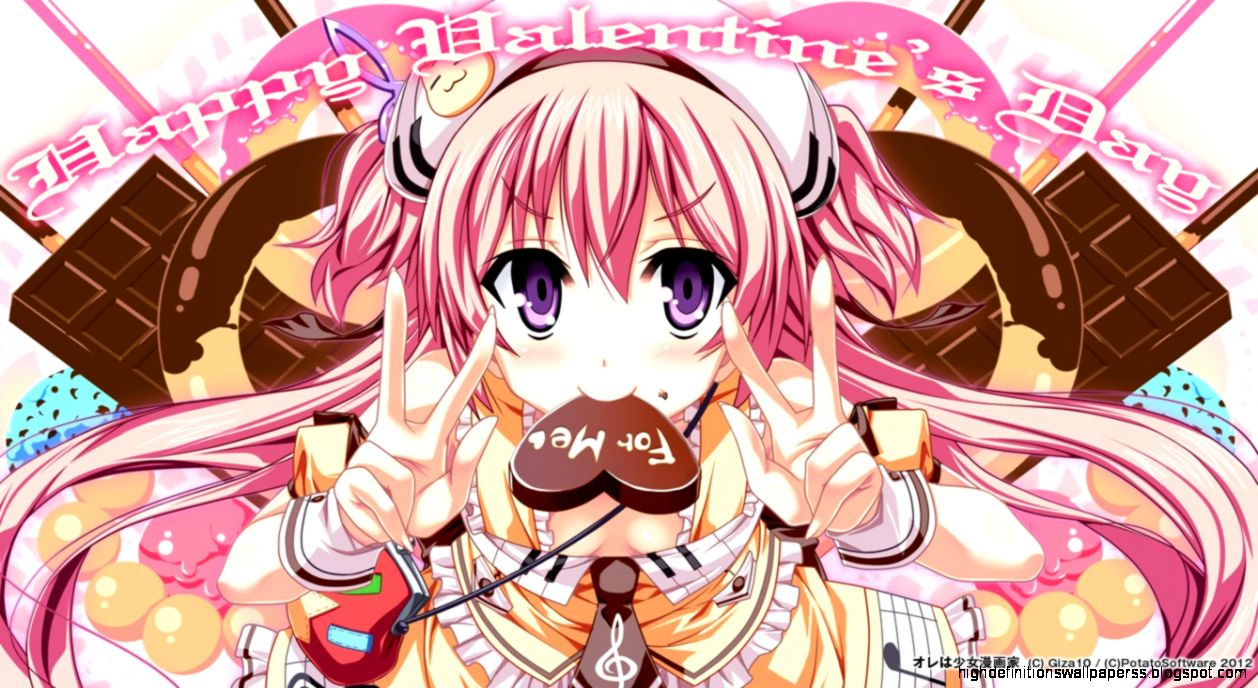 Girl Valentine Wallpapers Anime Hd High Definitions Wallpapers