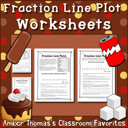 math worksheet : shut the door and teach playing with our food nutrition and  : Line Plot With Fractions Worksheets