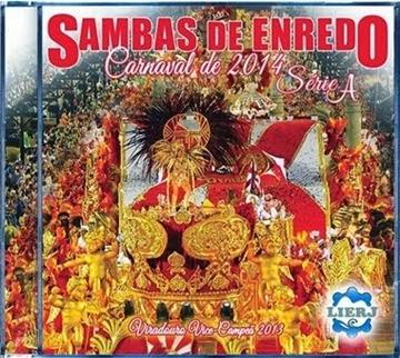 Capa do CD dos Sambas Enredo Série A Carnaval 2014