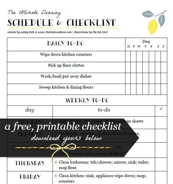 house cleaning printable weekly daily house cleaning schedule checklist pdf. Black Bedroom Furniture Sets. Home Design Ideas