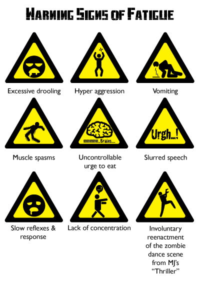 Adrian Chan Oh Amp S Poster 2 Warning Signs Of Fatigue