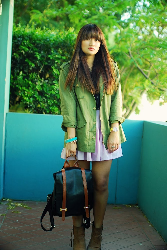 Front Row Shop Khaki Jacket To The Nines Hipster